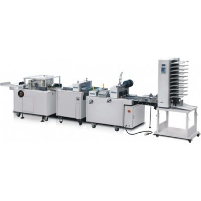 HL-DZ350/450/560-2 wire stitching and folding machine for booklet making with three side trimmer