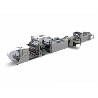 HL-1020BFD Double roller feeder Automatic Roller paper high-speed flexo printing saddle stitching production line machine