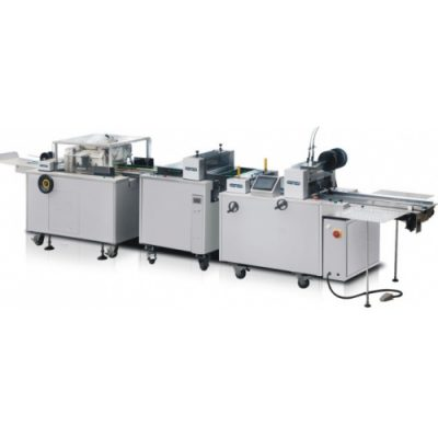 HL-DZ350/450/560-1 Booklet wire stitching and folding machine with one side trimmer