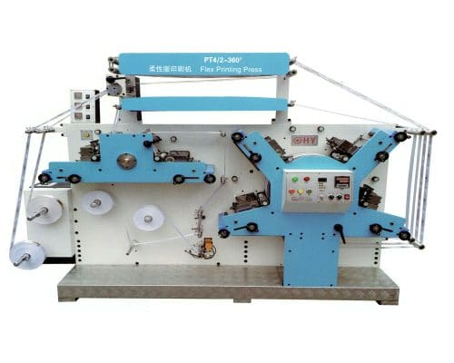 HLSB-PT 4/2 360 degree Four color Label Flexible Printing machine